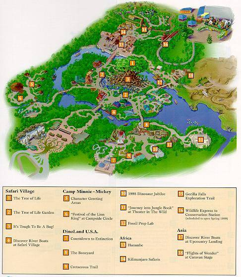 Original Animal Kingdom Map