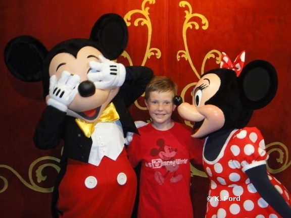 Carter and Mickey and Minnie