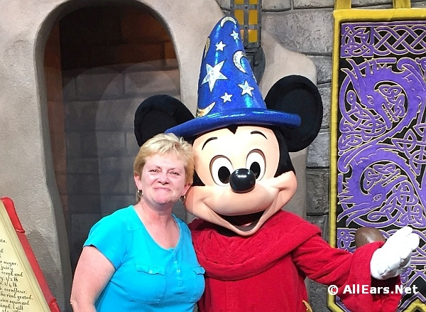 Deb Koma with Sorcerer Mickey