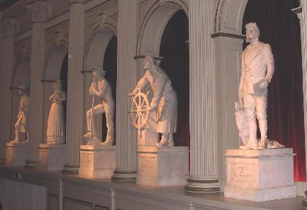 Statues inside auditorium