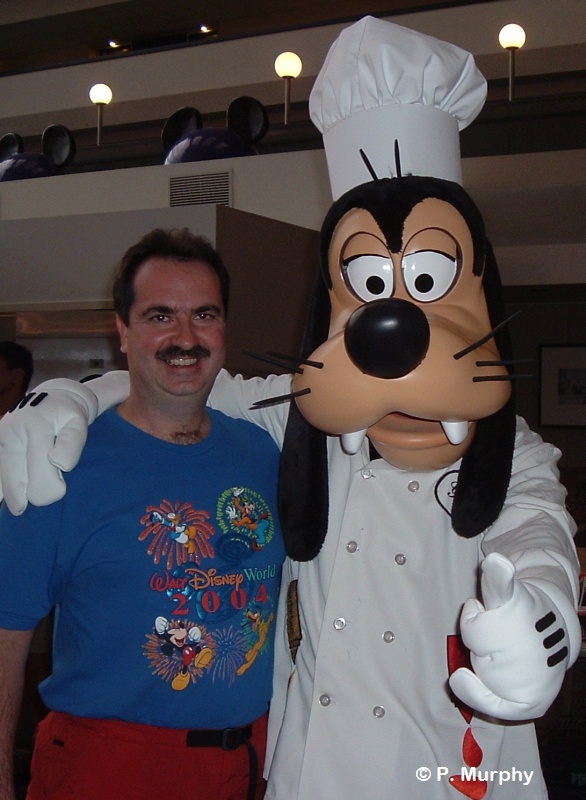 Pete Murphy with Goofy