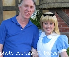 Richard Mercer with Alice