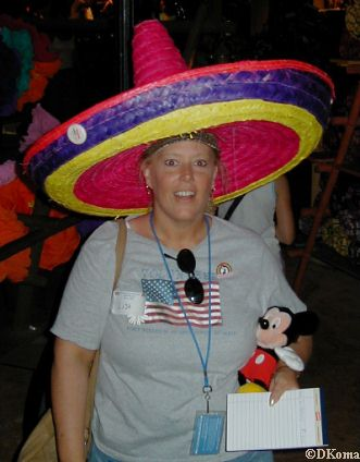 Lisa models a Mexican Sombrero