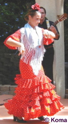 Flamenco Dancer at Andalucia Exhibit