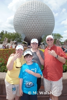 Walsh Family at Epcot