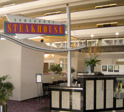 Contemporary Councorse Steakhouse Entrance