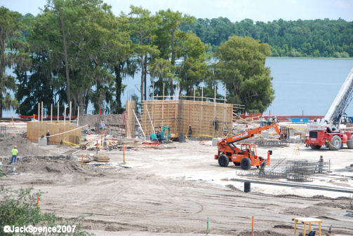 Construction at Contemporary Resort