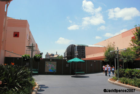 Mickey Ave in Disney's MGM Studios is closed off.