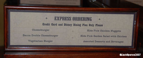 Pecos Bill's  Express Ordering Menu