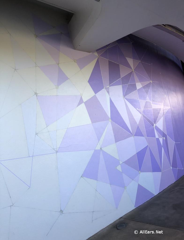 Purple Wall at the Magic Kingdom