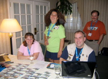Colleen and some of the other staff of volunteers