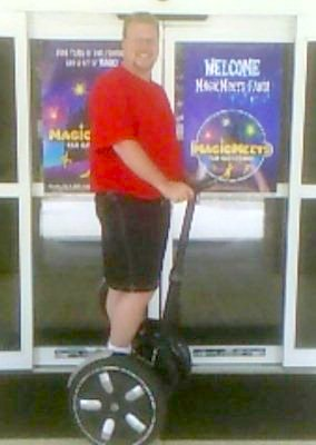 Fred Block on his segway