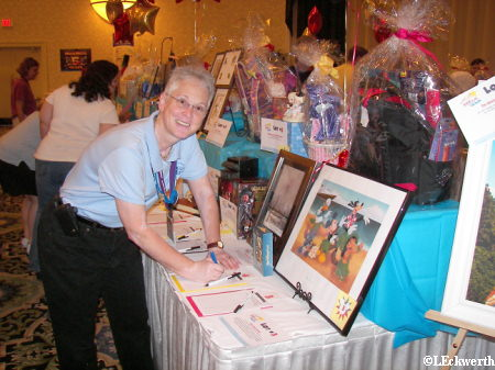 Deb bids on a Silent Auction Item