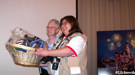Laura wins the AllEars MagicMeets Prize Basket