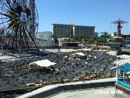 construction for World of Color