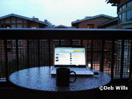 Morning on the balcony