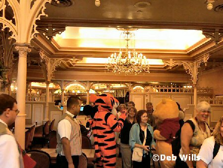 character breakfast at Plaza Inn