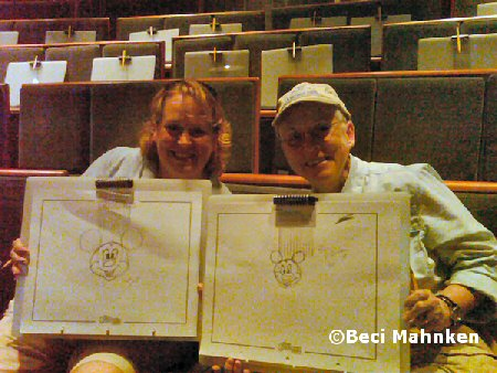 Beth and Deb draw Mickey