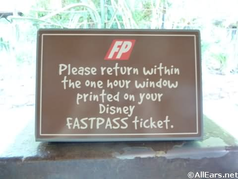 Animal Kingdom FastPass Signs