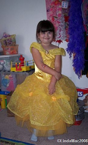 MJ dressed as Belle