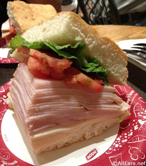 Main Street Bakery Turkey sandwich