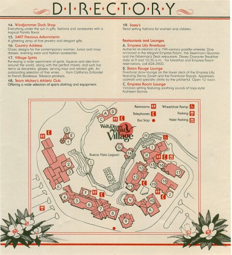 The Walt Disney World Village 1987