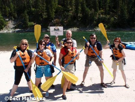 Group rafting photo