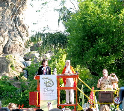 Animal Kingdom Re-Dedication Ceremony with Erin Wallace, Joe Rohde and Jane Goodall