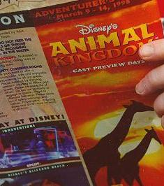 Animal Kingdom 1998 Pre-Opening Guide Map