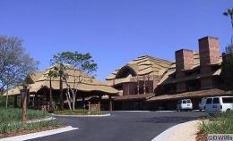 Entrance to Animal Kingdom Lodge