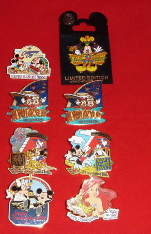 Disney Cruise Line Limited Edition  Lot of 8 (eight) pins