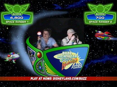 Buzz Astroblaster E-PostCard  at Disneyland