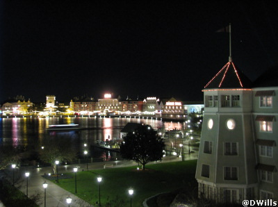 View of the Boardwalk from my Yacht Club Room