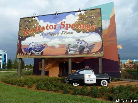 Cars section at the Art of Animation Resort