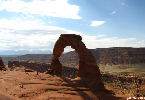 First glimpse of Delicate Arch
