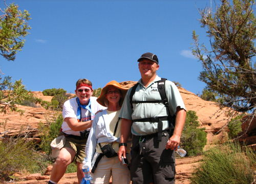 LindaLou, Wanda and Guide Mike