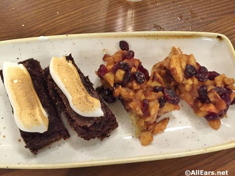 Campfire Brownie and Apple Tart Diamond Horseshoe Magic Kingdom