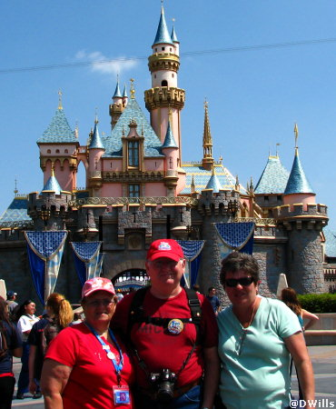 Ann, George and LindaMac at the Castle in Disneyland
