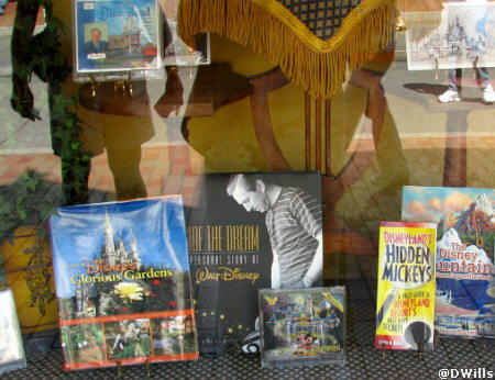 Steve's Hidden Mickey book on Main Street in Disneyland