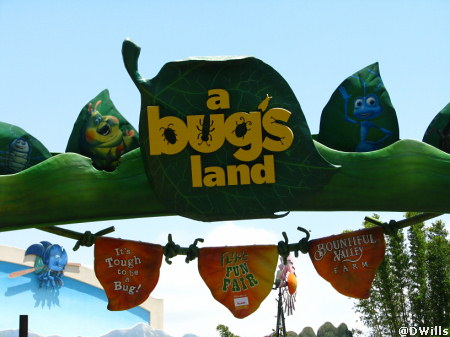 A Bug's Land Signage in Disney's California Adventure