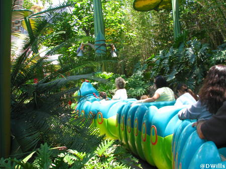 Heimlich's Chew Chew Train in A Bug's Land in Disney's California Adventure