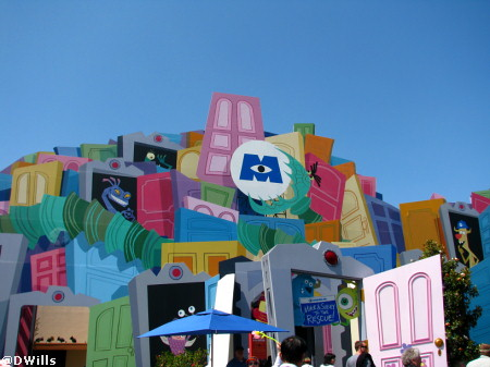 Monster's Inc in Disney's California Adventure