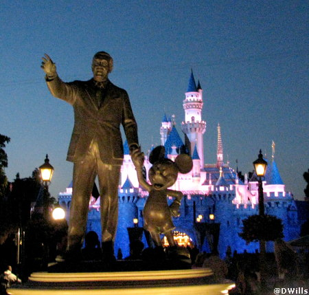 Walt and Mickey in Disneyland