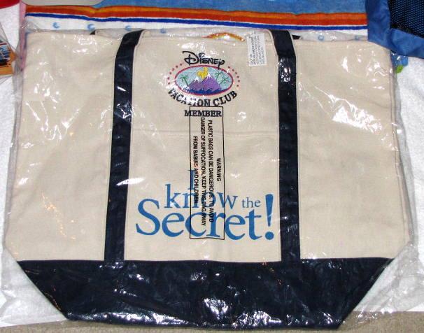 Disney Vacation Club Canvas Tote Bag-