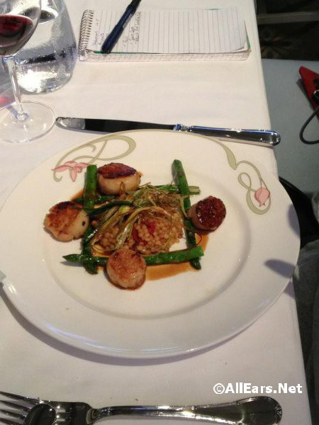 Carmelized sea scallops
