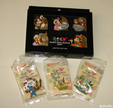 Epcot Food and Wine Limited Edition Pins