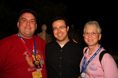 Brian Thompson, Justin Muchoney (former Disney Chief Magical Official) and Deb