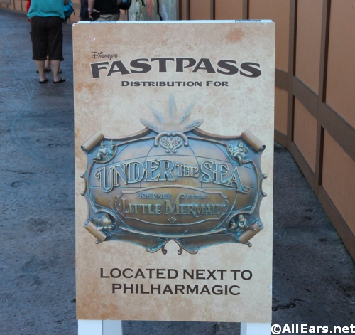 Little Mermaid FastPass Magic Kingdom