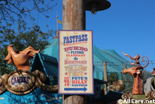 Storybook Circus FastPass Magic Kingdom