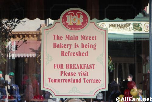 Main Street Bakery Magic Kingdom